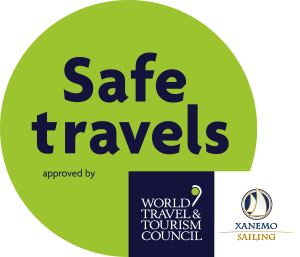 Xanemo Sailing Safe Travels stamp approved by World Travel Tourism Council