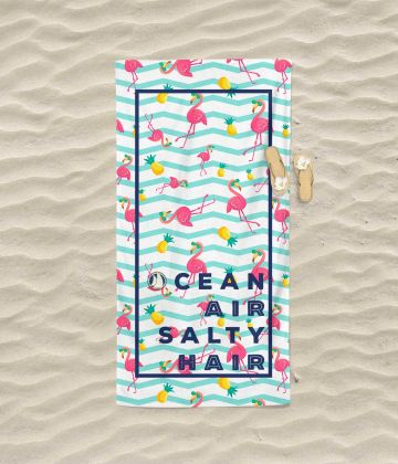 Large beach towel Ocean air salty hair