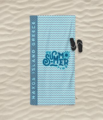 Serviette de plage taille moyenne it's summer time