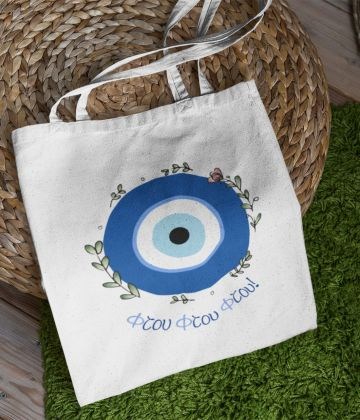 "Mykonos tote bag ""Ftou ftou ftou"""