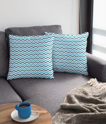 Large cushion vintage nautical pattern