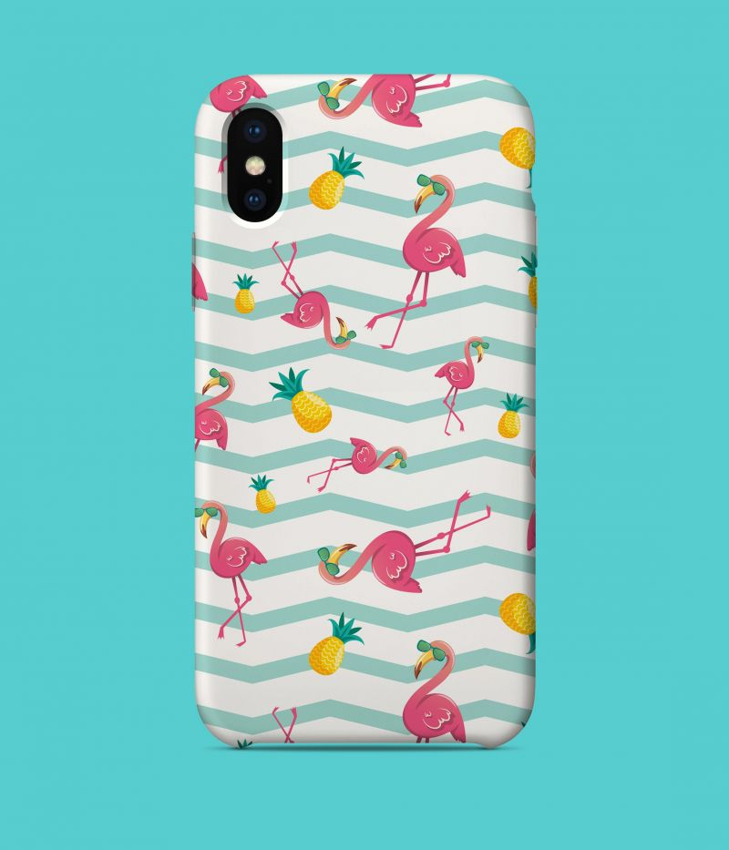 Summer flamingo and pineapple iPhone X Case
