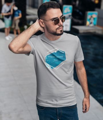 Grey Sailing Tee shirt with summer logo