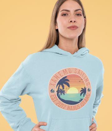 Sweat à capuche Xanemo Sailing Vintage coucher de soleil