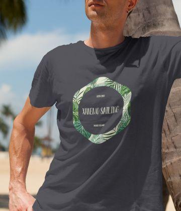 T-shirt imprimé géométrique tropical Xanemo Sailing