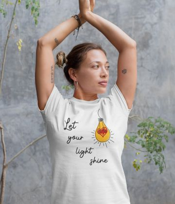 T-shirt femme Let your light shine